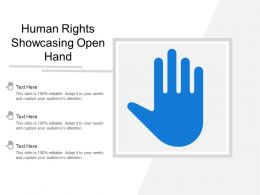 Human Rights Showcasing Open Hand