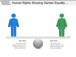 Human Rights Showing Gender Equality With Human Silhouettes And Balancing Scale