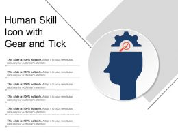 Human Skill Icon With Gear And Tick