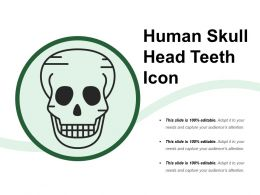 Human Skull Head Teeth Icon