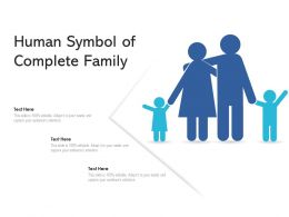 Human Symbol Of Complete Family