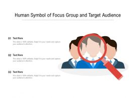 Human Symbol Of Focus Group And Target Audience