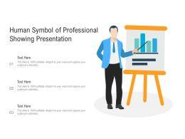 Human Symbol Of Professional Showing Presentation