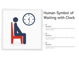 Human Symbol Of Waiting With Clock