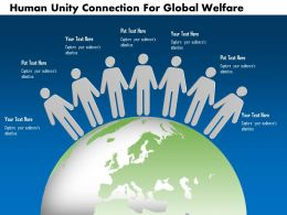 Human Unity Connection For Global Welfare Ppt Presentation Slides
