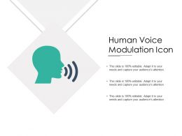 Human Voice Modulation Icon