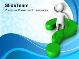 Human With Green Question Mark Powerpoint Templates PPT Themes And Graphics 0113