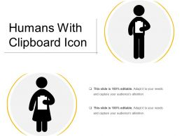 Humans With Clipboard Icon