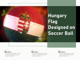 Hungary Flag Designed On Soccer Ball