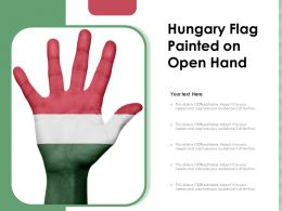 Hungary Flag Painted On Open Hand