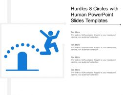 Hurdles 8 Circles With Human Powerpoint Slides Templates