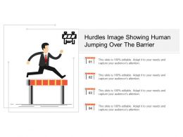 Hurdles Image Showing Human Jumping Over The Barrier