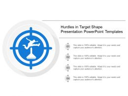 Hurdles In Target Shape Presentation Powerpoint Templates