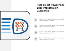 Hurdles List Powerpoint Slide Presentation Guidelines