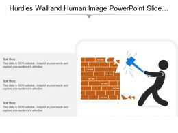 Hurdles Wall And Human Image Powerpoint Slide Background Designs