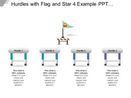 Hurdles With Flag And Star 4 Example Ppt Presentation