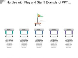 Hurdles With Flag And Star 5 Example Of Ppt Presentation