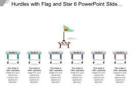 Hurdles With Flag And Star 6 Powerpoint Slide Design Templates
