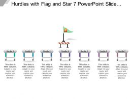 Hurdles With Flag And Star 7 Powerpoint Slide Presentation Guidelines