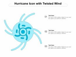 Hurricane Icon With Twisted Wind