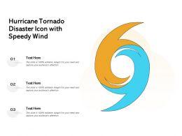 Hurricane Tornado Disaster Icon With Speedy Wind