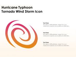 Hurricane Typhoon Tornado Wind Storm Icon