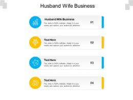 Husband Wife Business Ppt Powerpoint Presentation Professional Format Ideas Cpb