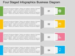 Hv Four Staged Infographics Business Diagram Flat Powerpoint Design