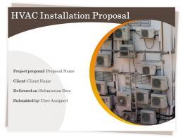 HVAC Installation Proposal Powerpoint Presentation Slides