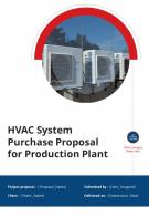 HVAC System Purchase For Production Plant Proposal Example Document Report Doc Pdf Ppt