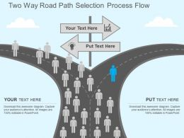 Hx Two Way Road Path Selection Process Flow Flat Powerpoint Design