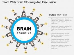 hy Team With Brain Storming And Discussion Flat Powerpoint Design
