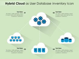 Hybrid Cloud As User Database Inventory Icon