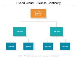 Hybrid Cloud Business Continuity Ppt Powerpoint Presentation Summary Elements Cpb