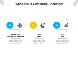 Hybrid Cloud Computing Challenges Ppt Powerpoint Icon Visuals Cpb