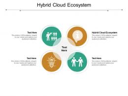 Hybrid Cloud Ecosystem Ppt Powerpoint Presentation Professional Introduction Cpb