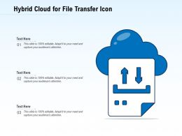Hybrid Cloud For File Transfer Icon