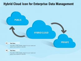 Hybrid Cloud Icon For Enterprise Data Management