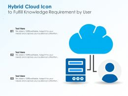 Hybrid Cloud Icon To Fulfill Knowledge Requirement By User