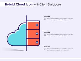 Hybrid Cloud Icon With Client Database