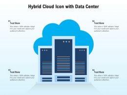 Hybrid Cloud Icon With Data Center