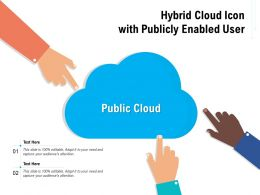Hybrid Cloud Icon With Publicly Enabled User