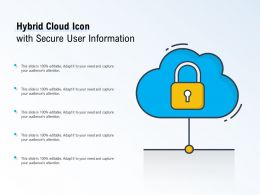 Hybrid Cloud Icon With Secure User Information