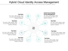 Hybrid Cloud Identity Access Management Ppt Powerpoint Presentation Ideas Format Ideas Cpb