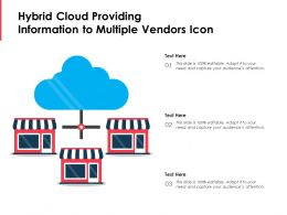 Hybrid Cloud Providing Information To Multiple Vendors Icon
