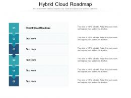 Hybrid Cloud Roadmap Ppt Powerpoint Presentation Infographic Template Graphics Pictures Cpb