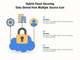 Hybrid Cloud Securing Data Stored From Multiple Source Icon