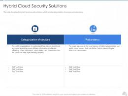 Hybrid Cloud Security Solutions Cloud Security IT Ppt Infographics
