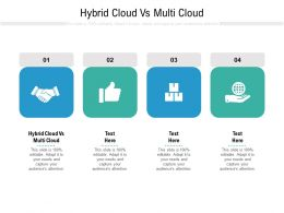 Hybrid Cloud Vs Multi Cloud Ppt Powerpoint Presentation Professional Display Cpb