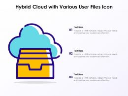 Hybrid Cloud With Various User Files Icon